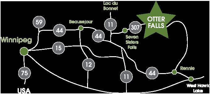 Otter Falls Resort Map